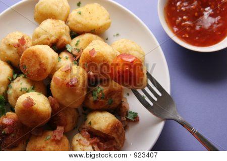 Potato Cakes With Bacon.