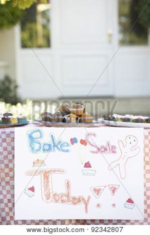 Table Laid Out For Bake Sale