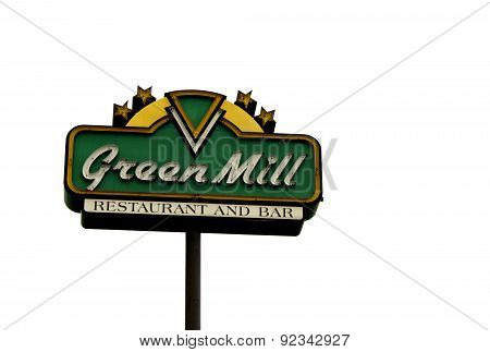 Green Mill Sign