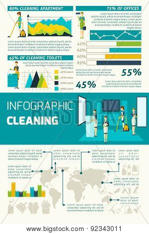 Cleaning In Rooms Infographics