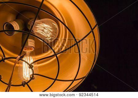 Two Burning Electric Bulbs