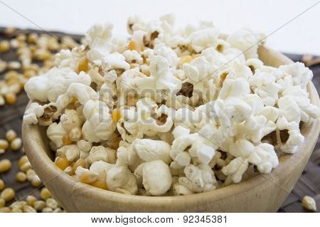 Corn Popcorn Raw Cooked Bowl Mix Seed Tray Concept
