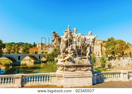 Bridge Sculpture, Rome, Italy