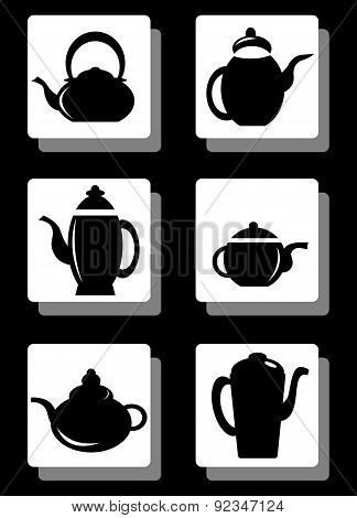 Set of coffee pot