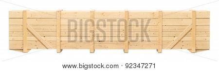 Wooden Container On A White Background