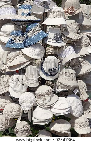 Linen White Hats For Sale.