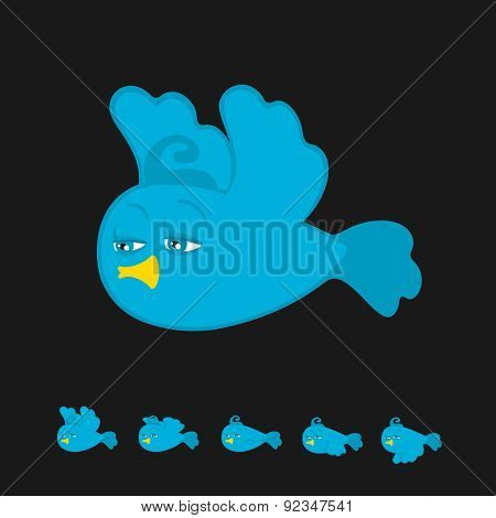 Flying Bird Cartoon Animation