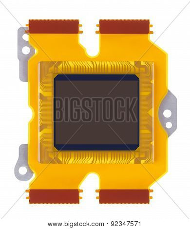 Sensor Of Digital Camera Close-up On A White Background