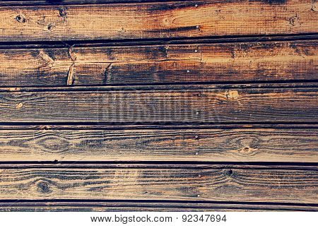 Old Wooden Timber Wall As Background.