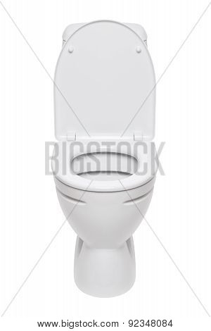 Toilet Bowl On A White Background