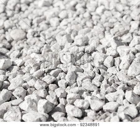 Detail of a pile of crushed rocks