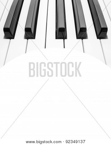 Piano Keyboard. Abstract Background With A Field For Text.