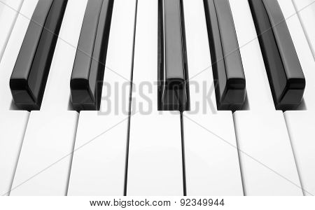 Piano Keyboard. Abstract Background.