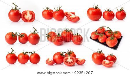 composite of fresh tomatoes
