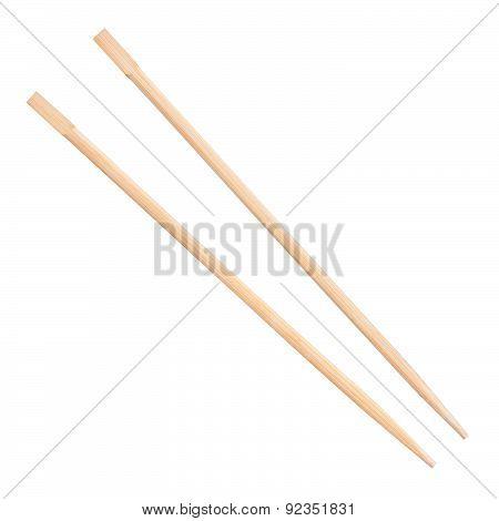 Chopsticks On A White Background