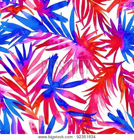 Seamless Tropical Abstract Pattern.