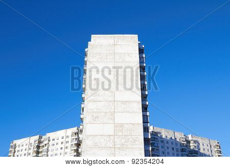 Apartment House Against The Blue Sky