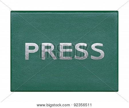 Press Card On A White Background