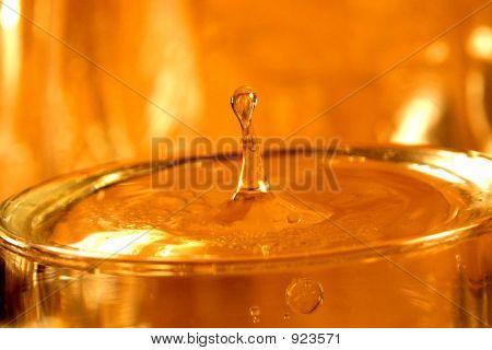 Waterdrop In Gold