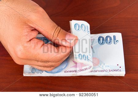 Hand Counting Banknotes