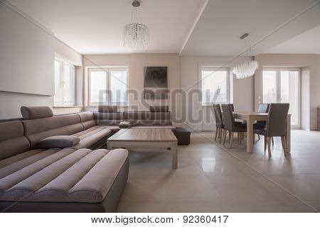 Spacious Up-to-date Living Room