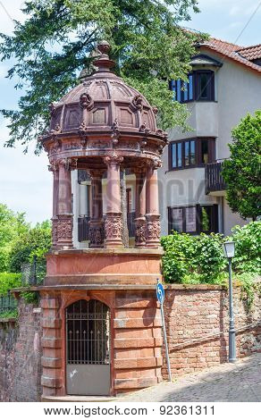 Details of the architecture of the old town of Heidelberg. Germany. Europe.