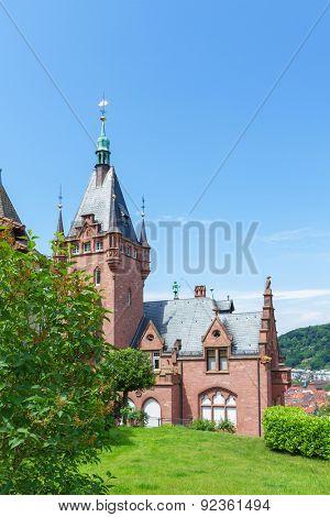 Historic villa in Heidelberg. Germany. Europe