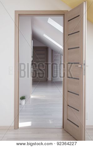Wooden Door To Room