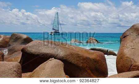 Rocks And Boat