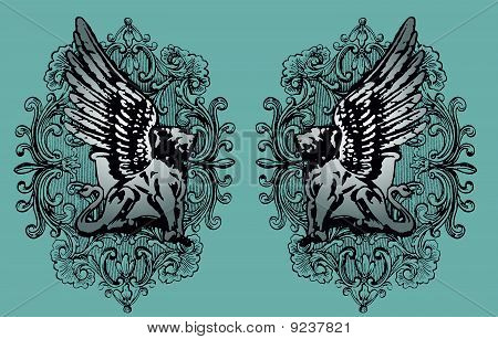 heraldic griffin design