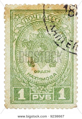 Ussr - Circa 1946: A Stamp Printed In The Ussr Shows The Nakhimovs Award, Circa 1946
