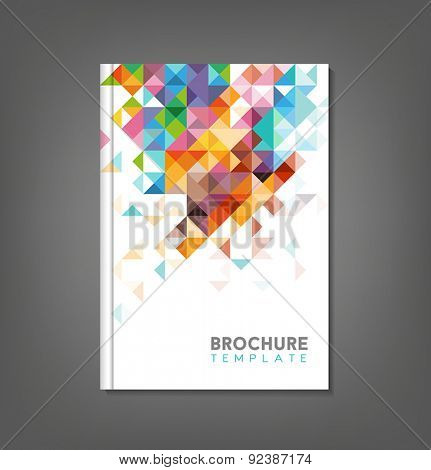 Brochure template, book cover, flyer design.