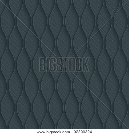 Dark perforated paper with outline extrude effect. 3d seamless wallpaper. Vector background EPS10.