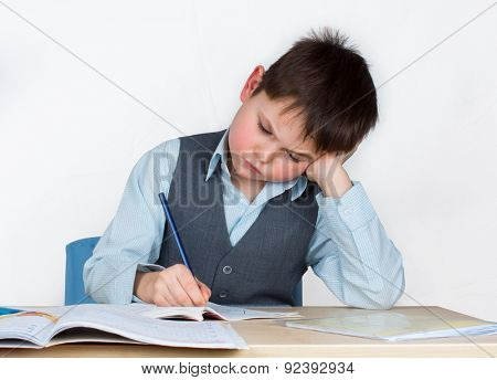 The student does not want to do homework, or he just does not get exercise.