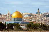stock photo of israel people  - The Dome of the Rock on the temple mount in Jerusalem  - JPG