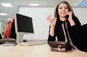 foto of secretary  - girl secretary in an office  - JPG