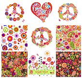 pic of hippy  - Hippie backgrounds and design elements - JPG