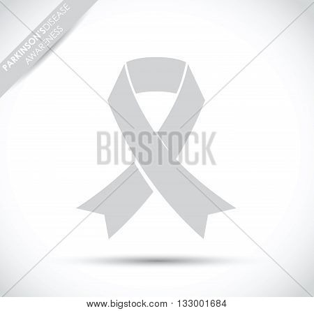 a grey parkinson disease awareness ribbon image