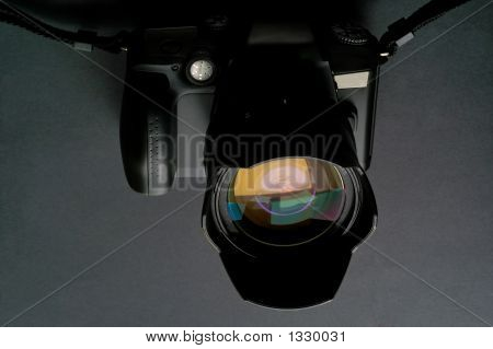 Camera And Lens Closeup (Srl Single Lens Reflex)