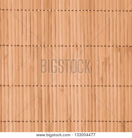 Vector traditional bamboo mat for sushi background