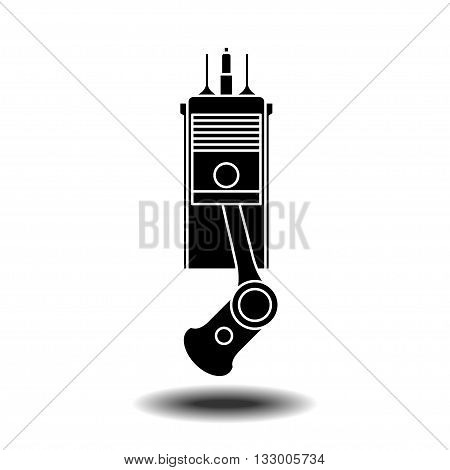 element of internal combustion engine vector icon with shadow. Flat vector icon on white background
