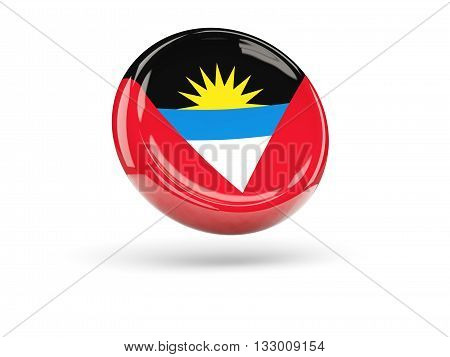 Flag Of Antigua And Barbuda. Round Icon