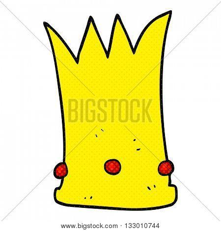 freehand drawn cartoon tall crown