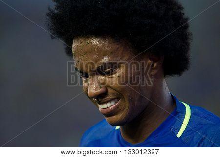 PASADENA, CA - JUNE 4: Willian during the COPA America game between Brazil & Ecuador on June 4th 2016 at the Rose Bowl in Pasadena, Ca.