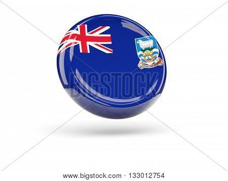 Flag Of Falkland Islands. Round Icon