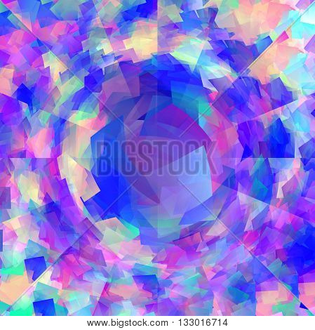 Abstract coloring  gradients background with visual cubism,illusion and pinch effects