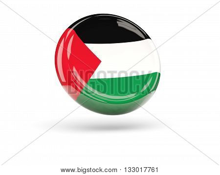 Flag Of Palestinian Territory. Round Icon