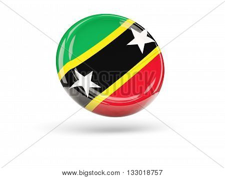 Flag Of Saint Kitts And Nevis. Round Icon