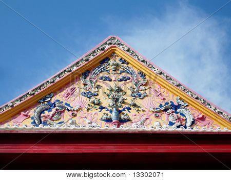 Triangle top of pagoda