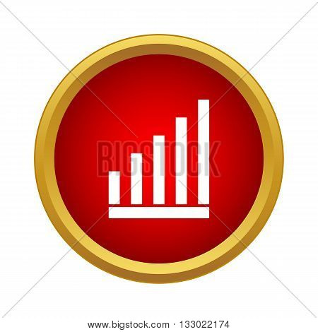 Graph icon in simple style isolated on white background